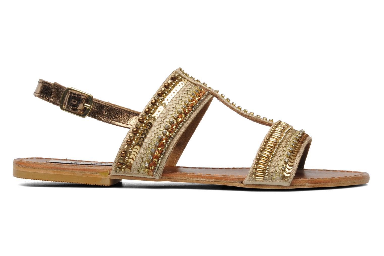 Sandales et nu-pieds Steve Madden Dubai Or et bronze vue derrière