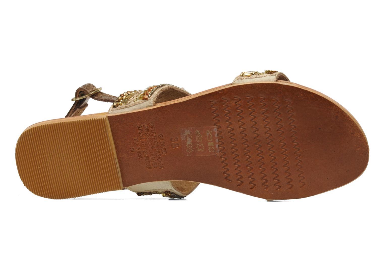 Sandales et nu-pieds Steve Madden Dubai Or et bronze vue haut