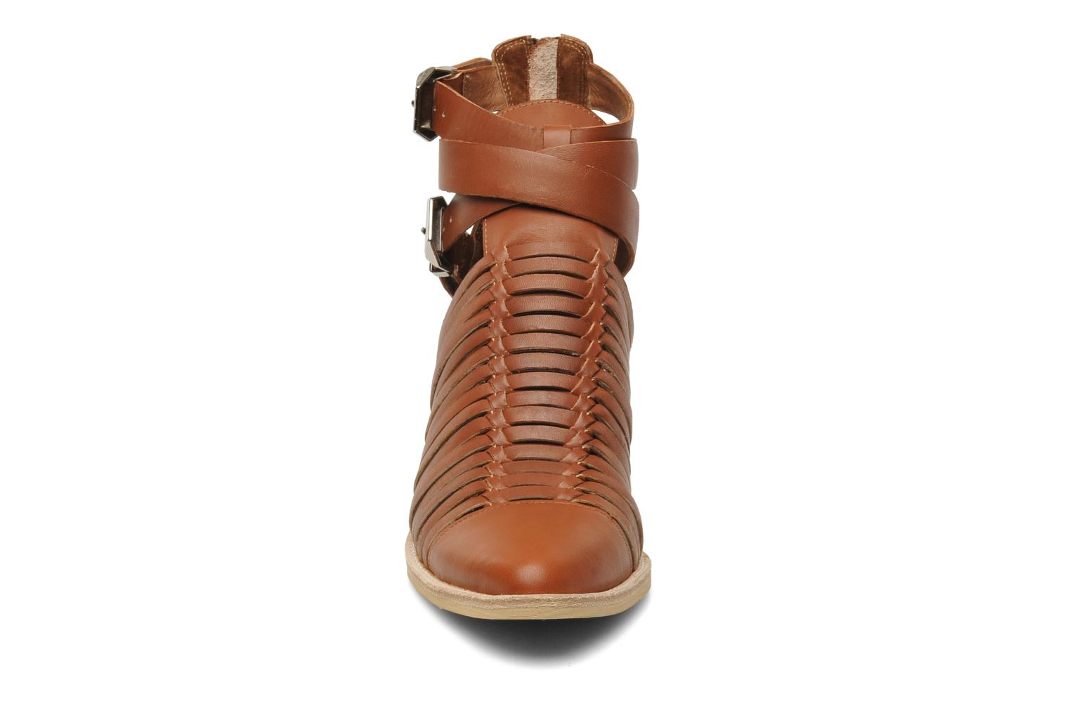 Ankle boots Jeffrey Campbell Sewell Brown model view