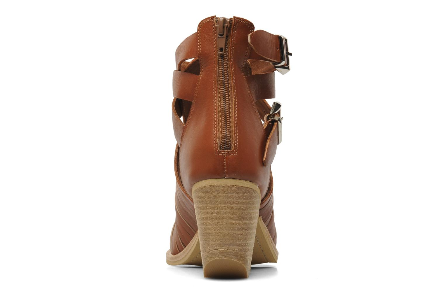 Ankle boots Jeffrey Campbell Sewell Brown view from the right