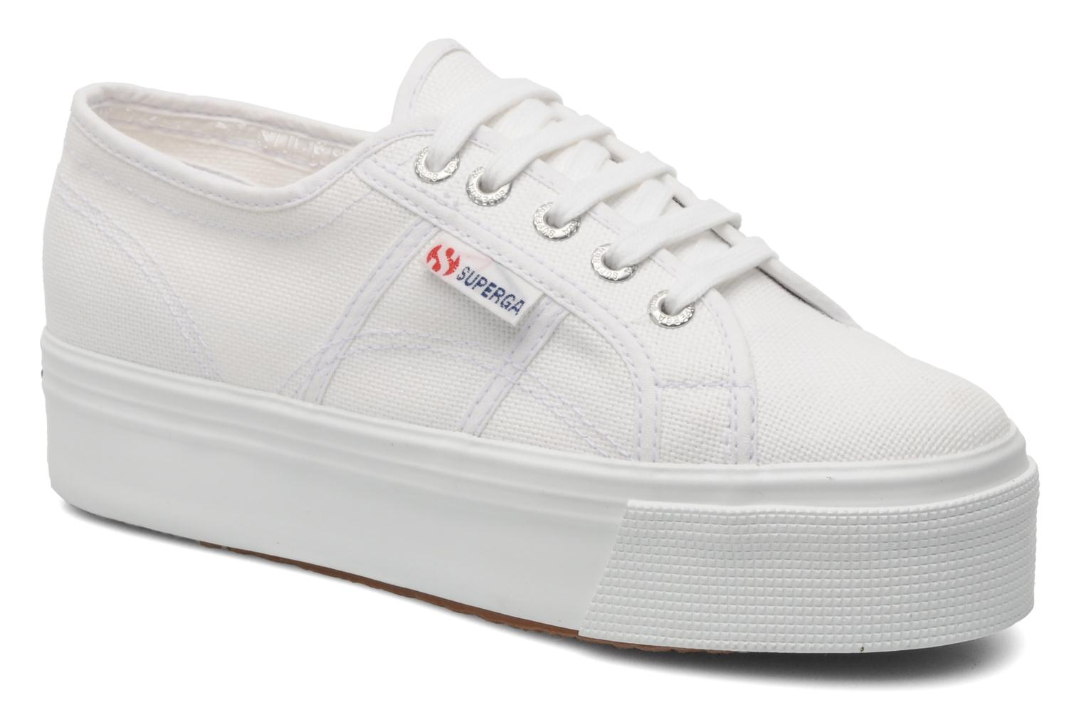 Trainers Superga 2790 Cot Plato Linea W White detailed view/ Pair view