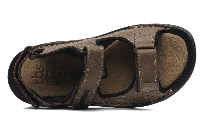 Sandalen TBS Easy Walk Carway braun ansicht von links