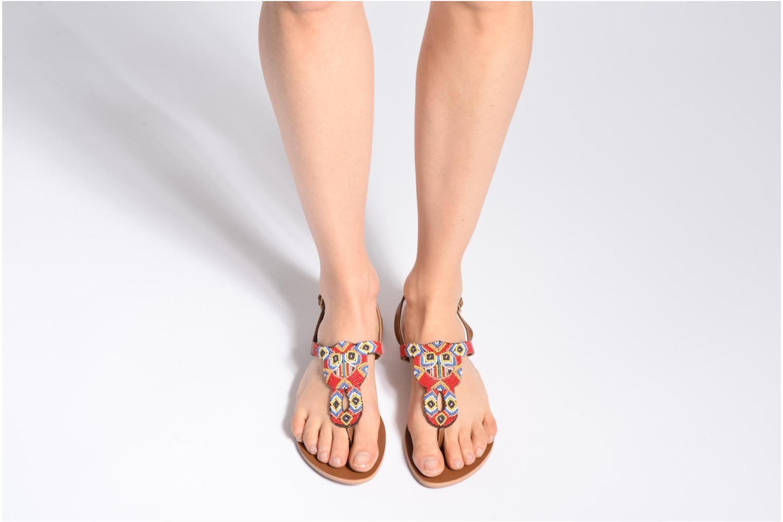 Sandales et nu-pieds Pieces Carmen Noir vue bas / vue portée sac