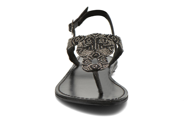 Sandales et nu-pieds Pieces Carmen Noir vue portées chaussures