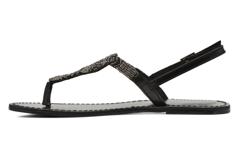 Sandales et nu-pieds Pieces Carmen Noir vue face