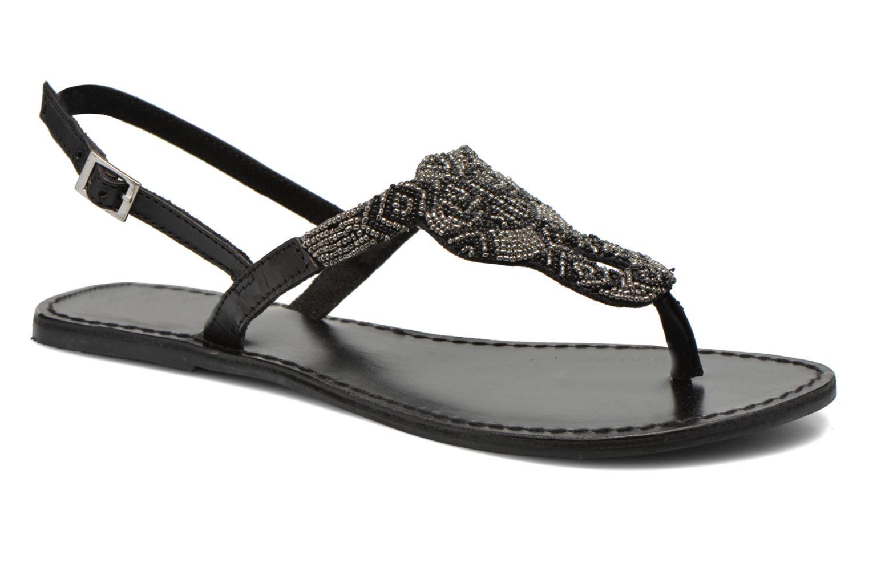 Sandales et nu-pieds Pieces Carmen Noir vue détail/paire