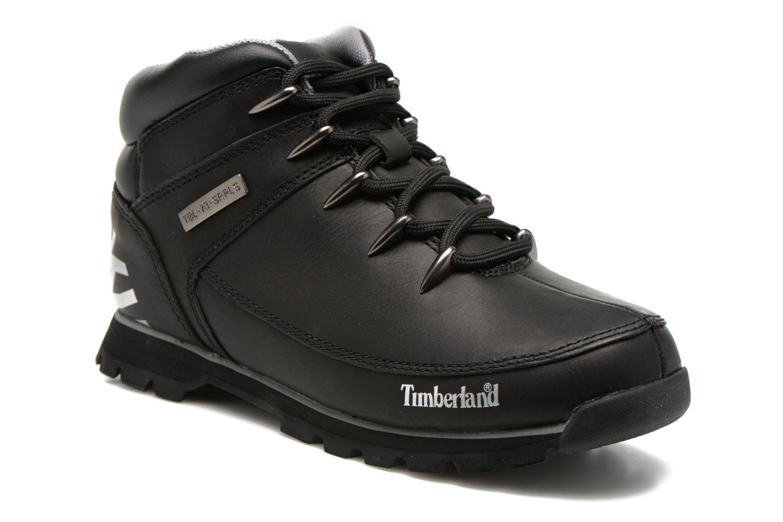 Lace-up shoes Timberland Euro Sprint Hiker Black detailed view/ Pair view