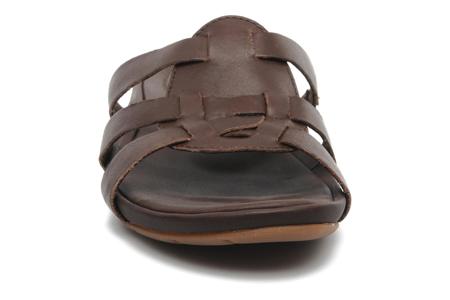 Mules et sabots Timberland Earthkeepers Pleasant Bay Slide Marron vue portées chaussures
