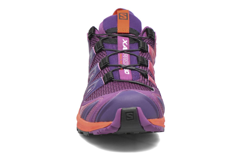 Sportschuhe Salomon XA Pro 3D W lila schuhe getragen