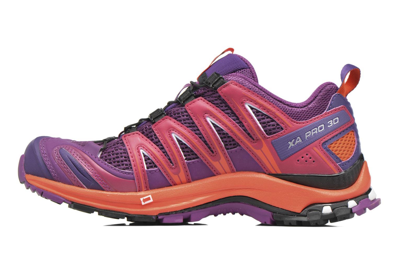 Chaussures de sport Salomon XA Pro 3D W Violet vue face