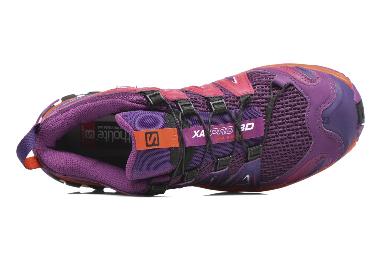 Chaussures de sport Salomon XA Pro 3D W Violet vue gauche