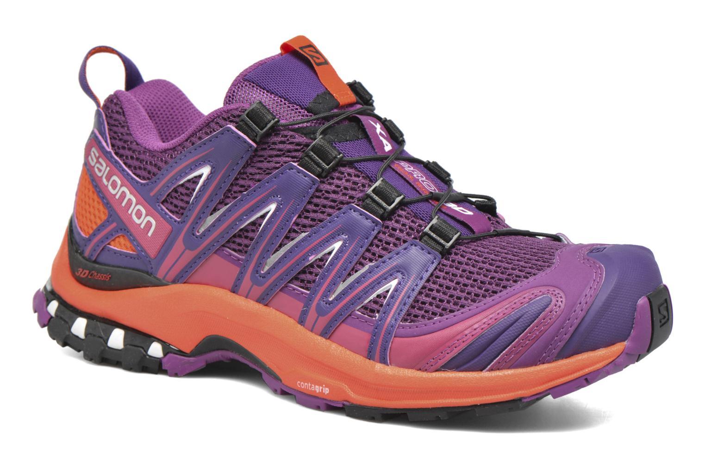 Chaussures de sport Salomon XA Pro 3D W Violet vue détail/paire