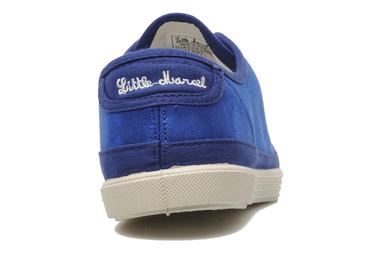 Sneaker Little Marcel Samba Glit blau ansicht von rechts