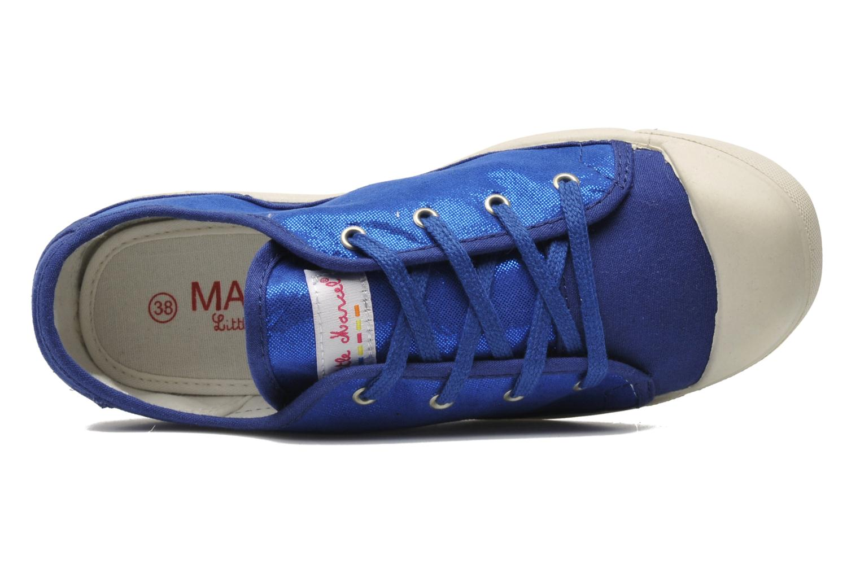 Sneaker Little Marcel Samba Glit blau ansicht von links