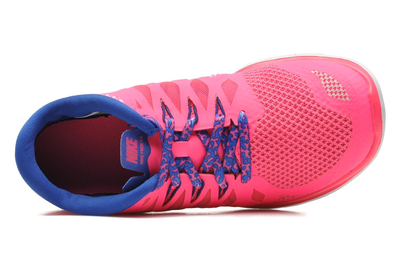 Sneaker Nike NIKE FREE 5.0 (GS) rosa ansicht von links