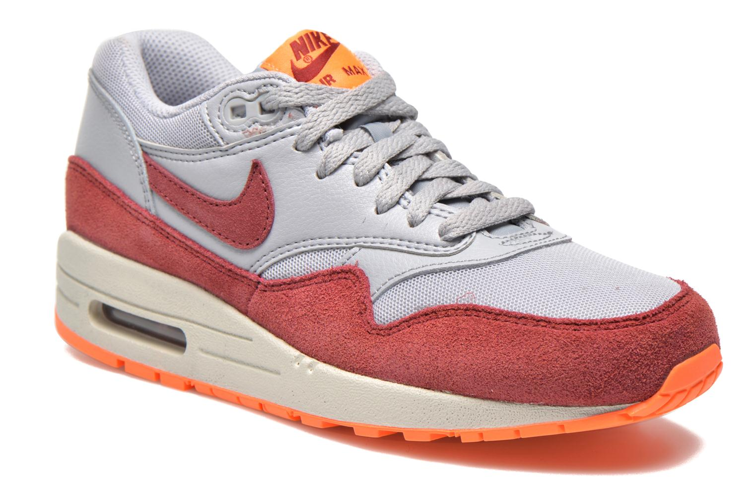 Wmns Air Max 1 Essential Wlf Gry/Tm Rd-Ttl Orng-Smmt Wh