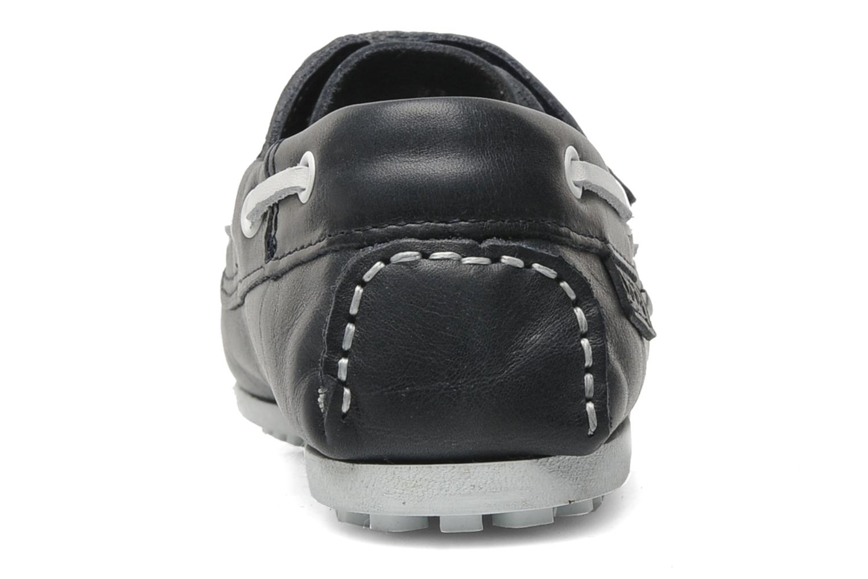 Chaussures à scratch Aigle LONGLAKE KIDS Bleu vue droite