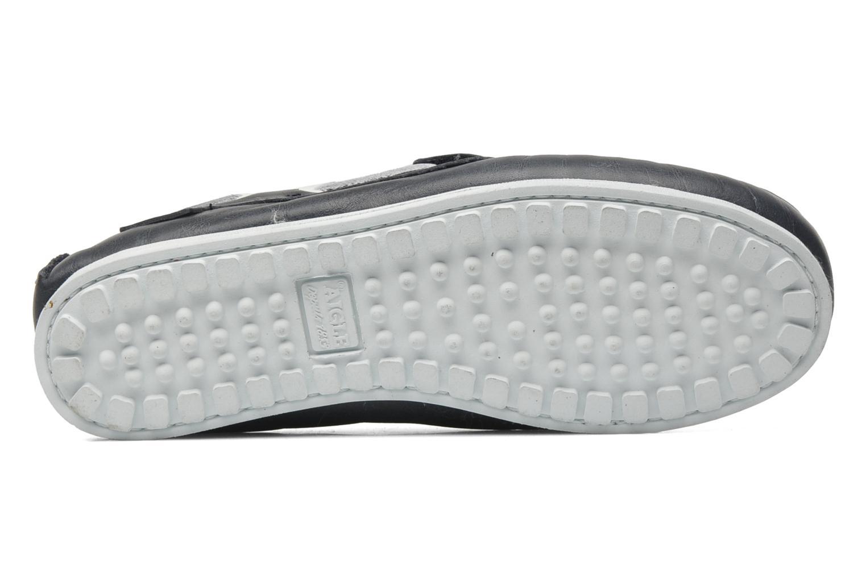 Chaussures à scratch Aigle LONGLAKE KIDS Bleu vue haut