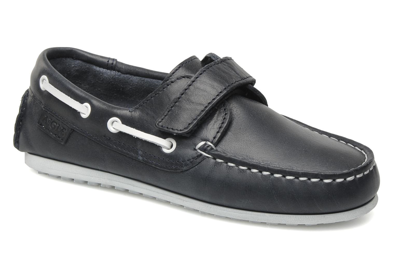 LONGLAKE KIDS Navy leather