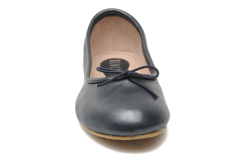 Ballerines Bloch Girls Arabella Gris vue portées chaussures