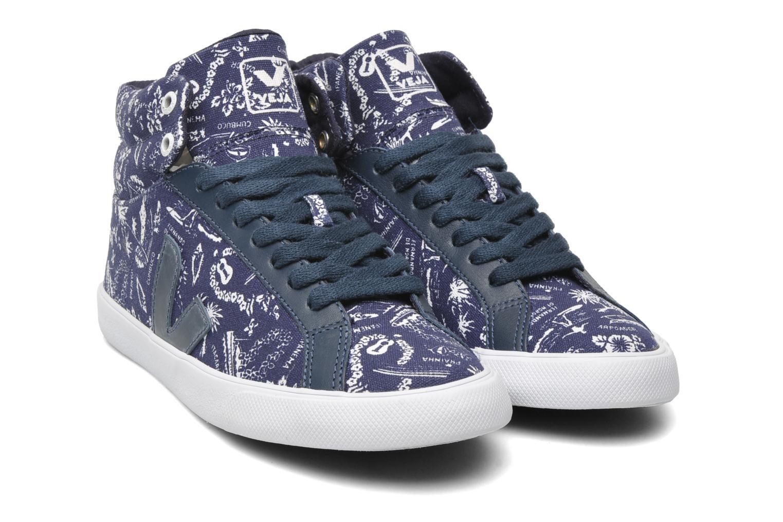 Sneakers Veja Esplar Hi Top Blauw 3/4'