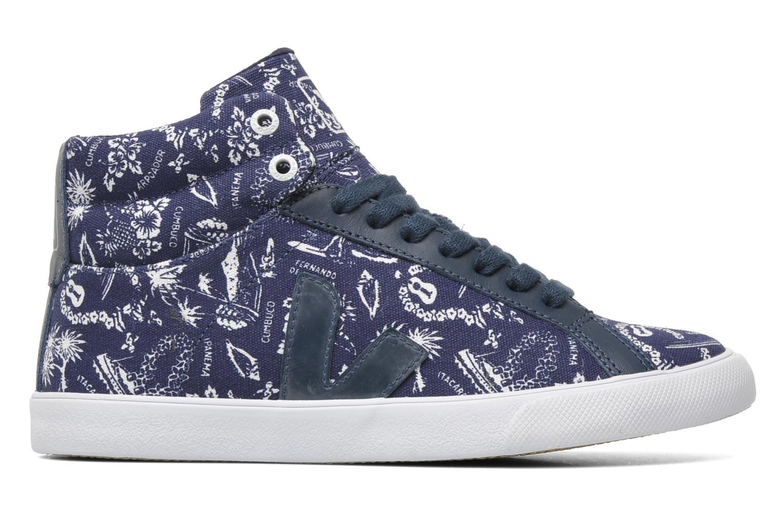 Sneakers Veja Esplar Hi Top Blauw achterkant