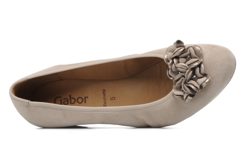Zapatos de tacón Gabor Sidney Beige vista lateral izquierda
