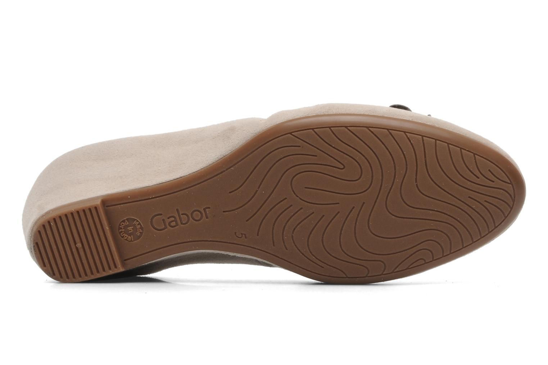 Zapatos de tacón Gabor Sidney Beige vista de arriba