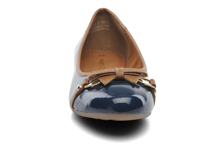 Ballerinas Marco Tozzi Macha blau schuhe getragen