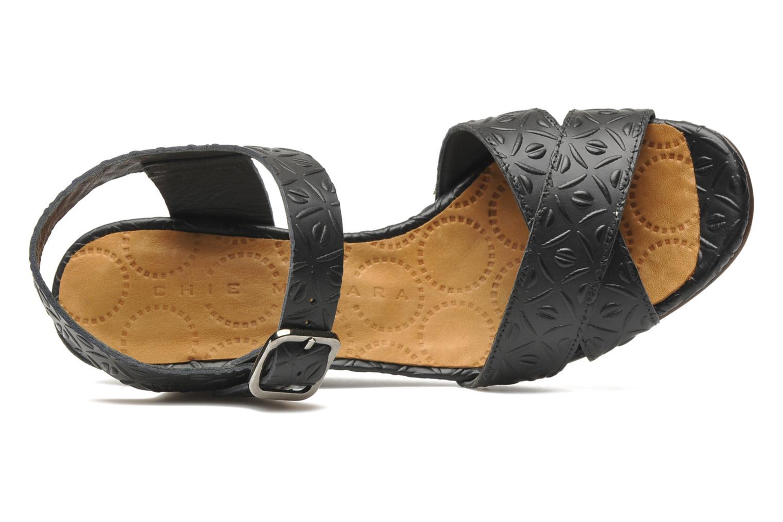 Sandalen Chie Mihara Senyorita Zwart links