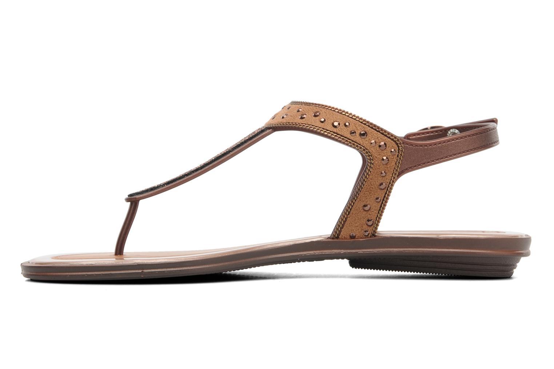 Sandales et nu-pieds Grendha Golden Fem Marron vue face