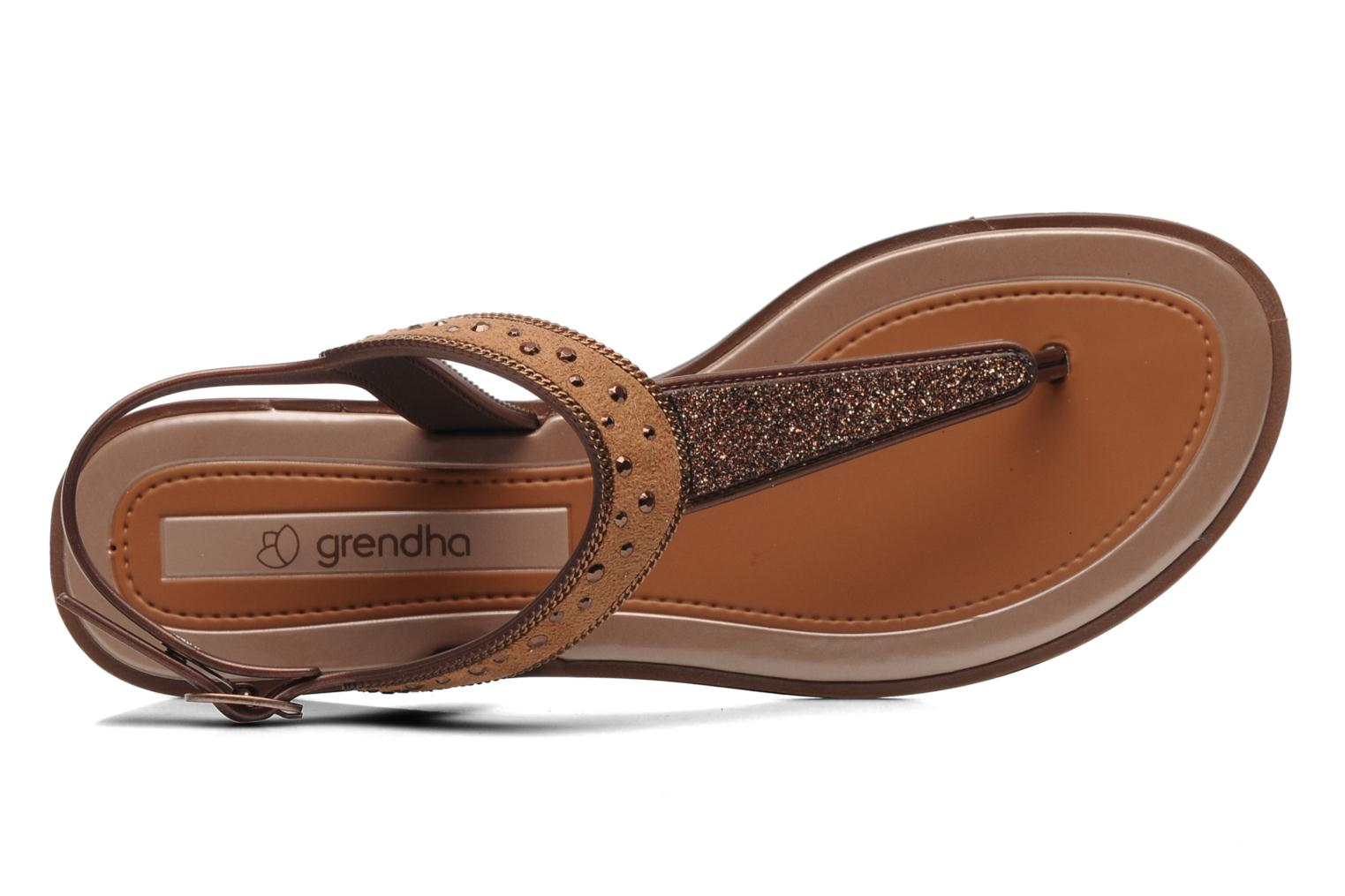 Sandalen Grendha Golden Fem Bruin links