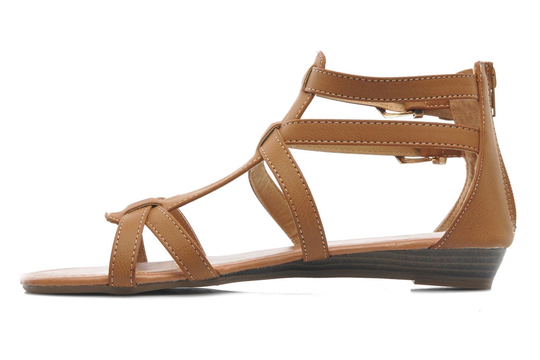 Sandalen Refresh Belle braun ansicht von vorne