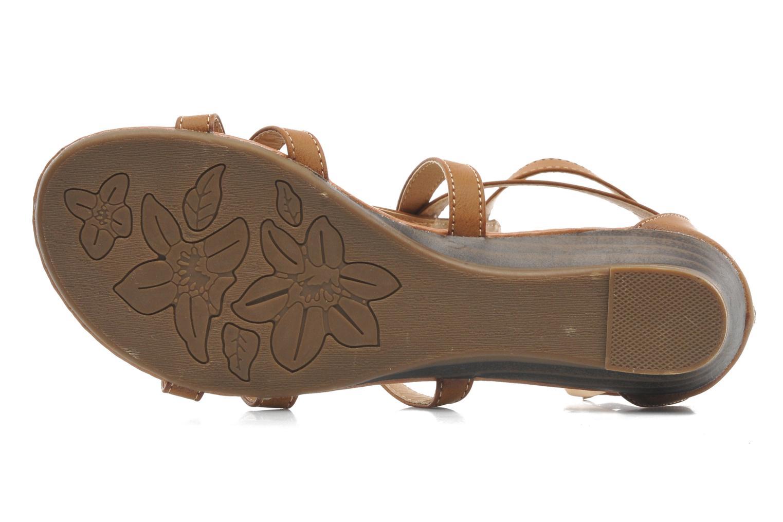 Sandalen Refresh Belle braun ansicht von oben