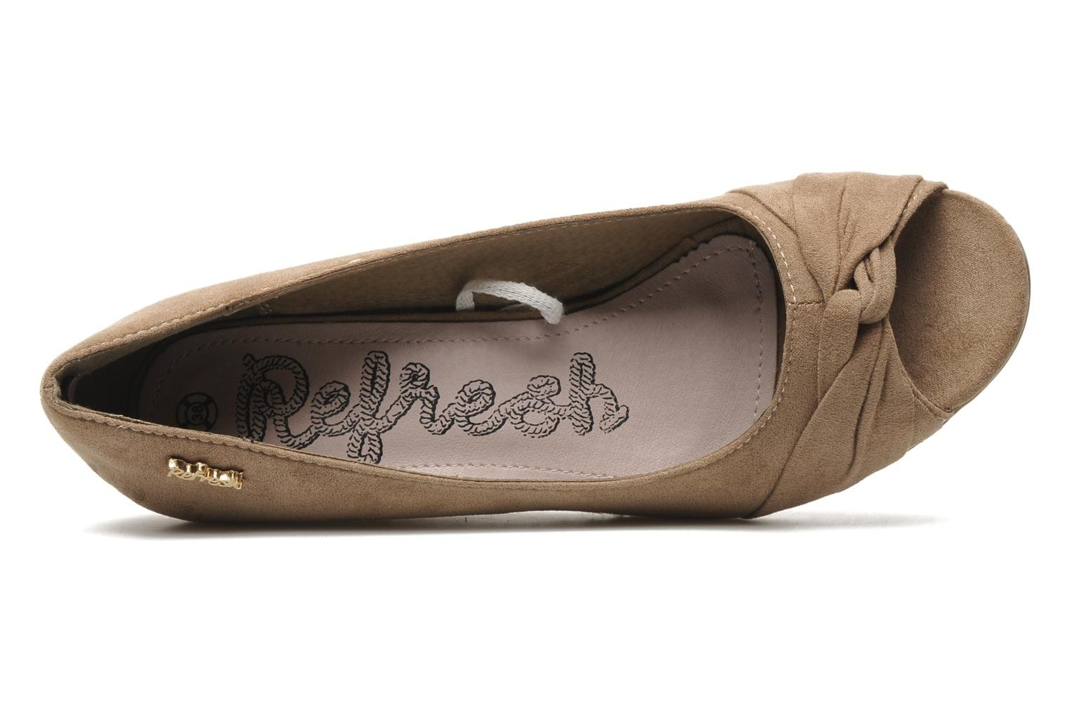 Pumps Refresh Briec beige ansicht von links
