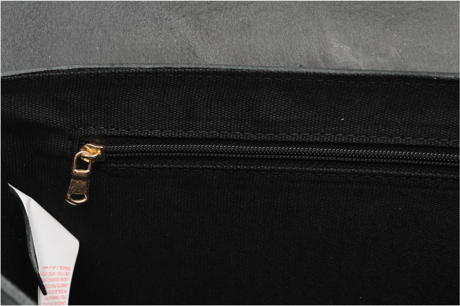 Handbags Pieces Siw leather Crossover bag Black back view