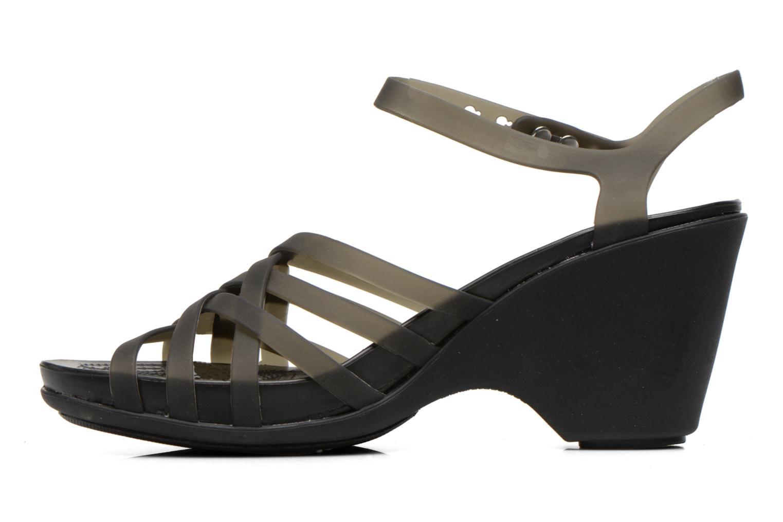Sandales et nu-pieds Crocs Huarache Sandal Wedge Noir vue face
