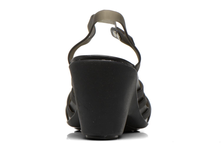 Sandales et nu-pieds Crocs Huarache Sandal Wedge Noir vue droite