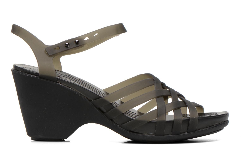 Sandales et nu-pieds Crocs Huarache Sandal Wedge Noir vue derrière