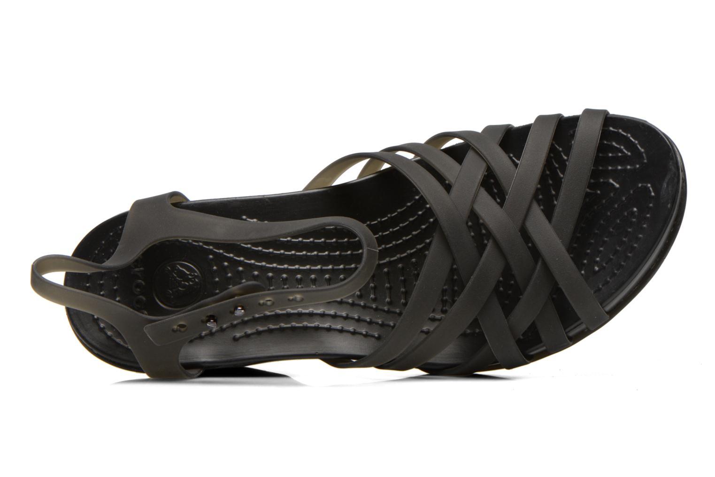 Sandalen Crocs Huarache Sandal Wedge schwarz ansicht von links