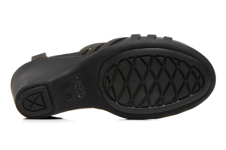 Sandales et nu-pieds Crocs Huarache Sandal Wedge Noir vue haut
