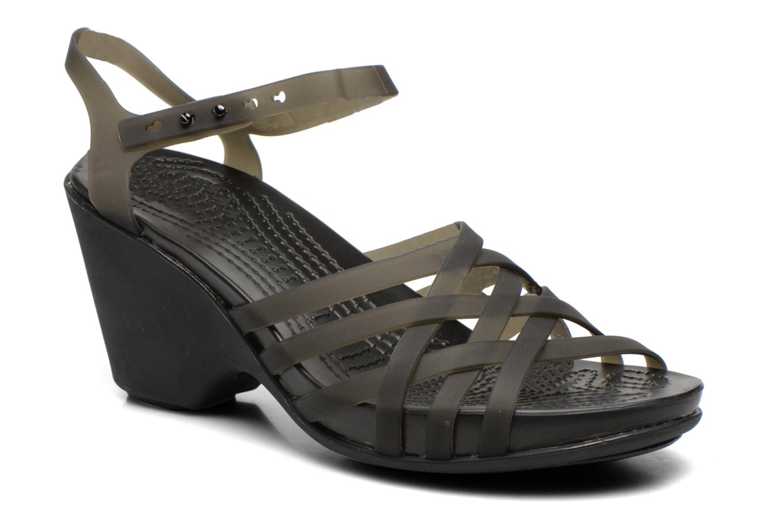 Sandales et nu-pieds Crocs Huarache Sandal Wedge Noir vue détail/paire