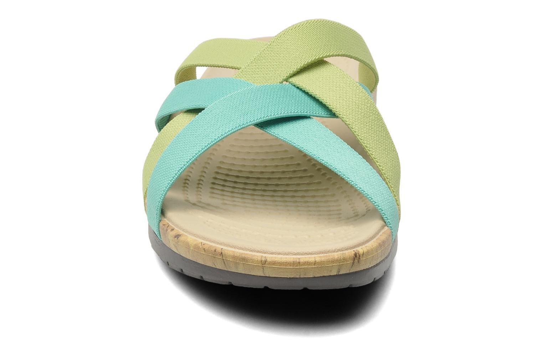 Wedges Crocs Crocs Edie Stretch Sandal W Groen model