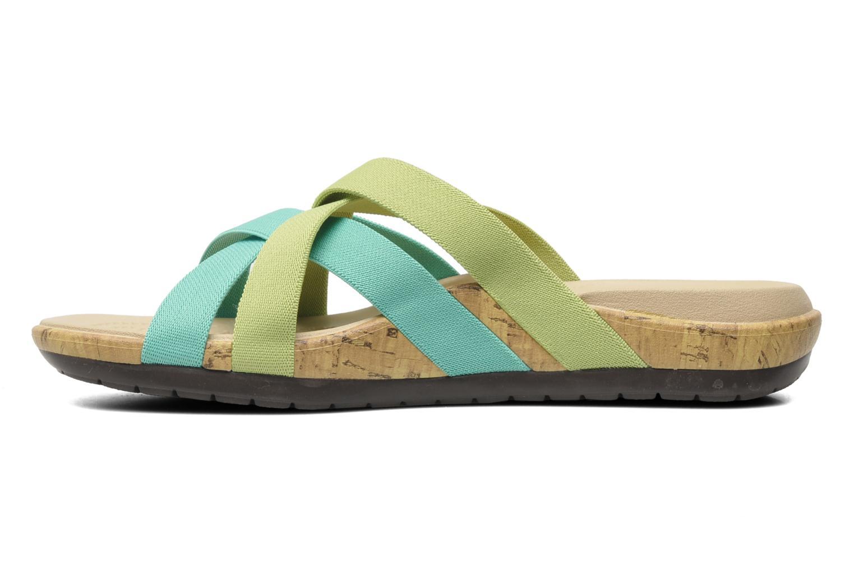 Wedges Crocs Crocs Edie Stretch Sandal W Groen voorkant