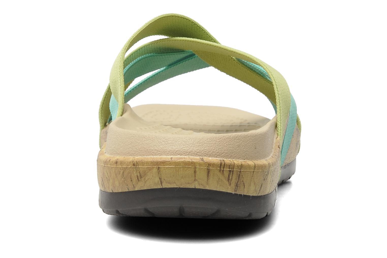 Wedges Crocs Crocs Edie Stretch Sandal W Groen rechts