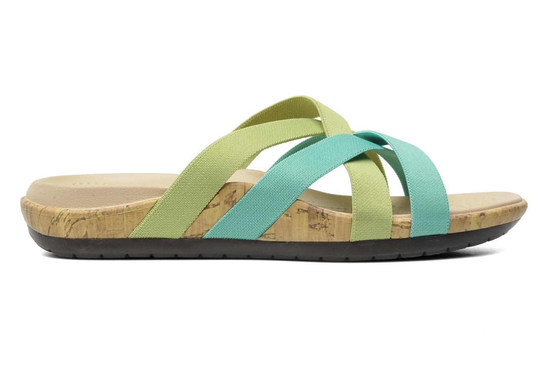 Wedges Crocs Crocs Edie Stretch Sandal W Groen achterkant
