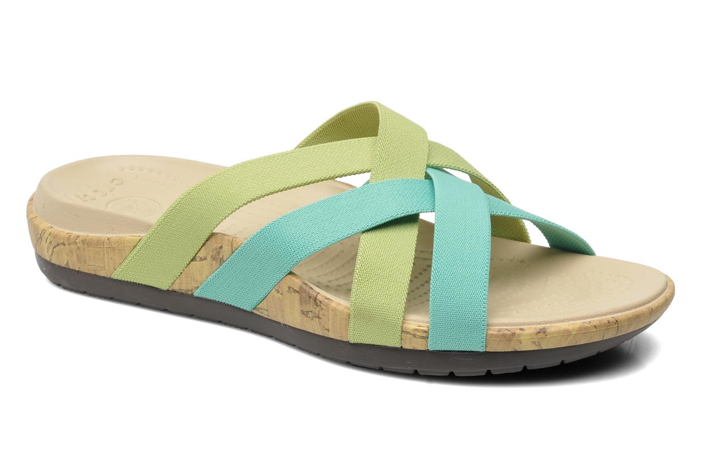 Wedges Crocs Crocs Edie Stretch Sandal W Groen detail