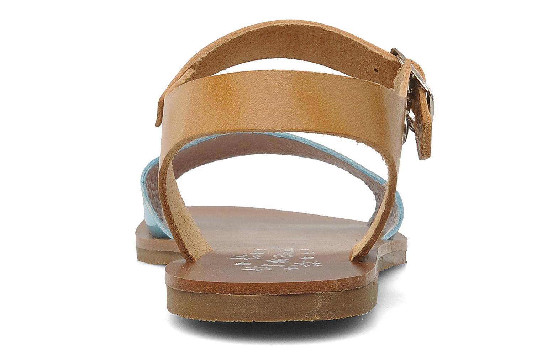 Sandales et nu-pieds Acebo's Dhalia Bleu vue droite