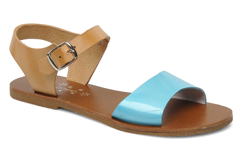 Sandales et nu-pieds Acebo's Dhalia Bleu vue détail/paire