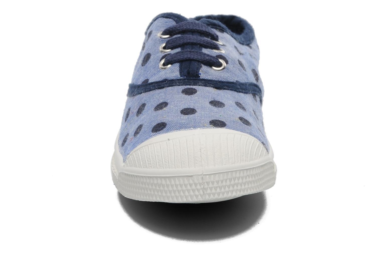 Baskets Bensimon Tennis Dots E Bleu vue portées chaussures